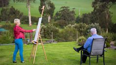 Artists take in magnificent farming views