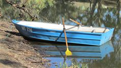 Boat on Campaspe River at Axedale