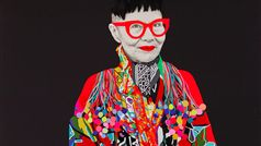 2015 Archibald Prize finalist, Carla Fletcher, Jenny Kee, mixed media on linen, 203 x 153.5 cm