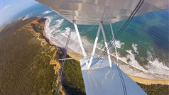 Tiger Moth World flight near Point Addis