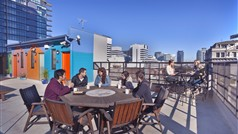 Melbourne Central YHA rooftop