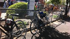 Bike parking at Carlton Farmers' Market