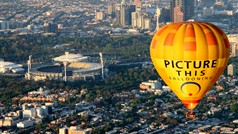 Flying over Melbourne