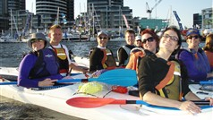 Docklands and City sea kayak tour