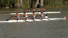 Rowers on the Darling River
