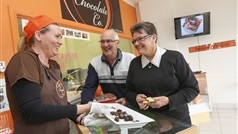 Customers at the Mildura Chocolate Co.