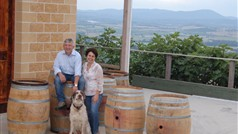 Owners:Stefano and Rina outside winery