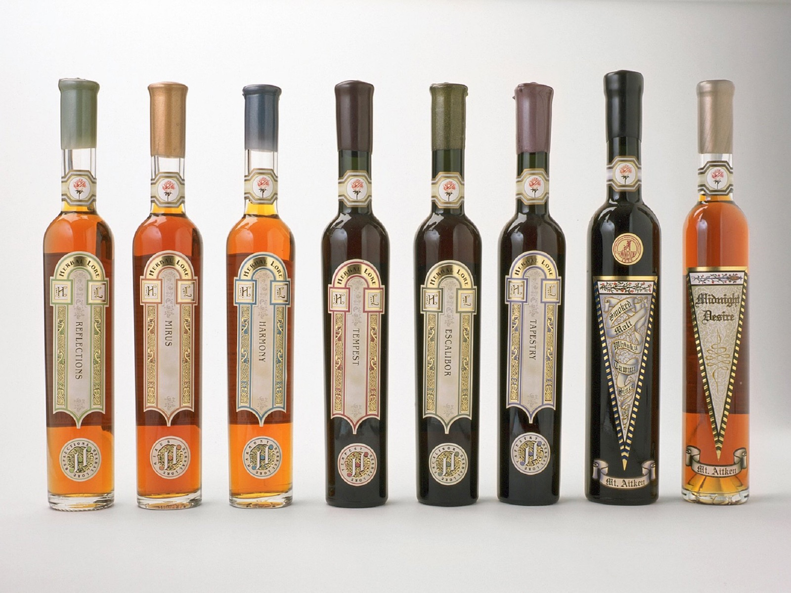 Some of our award winning liqueurs