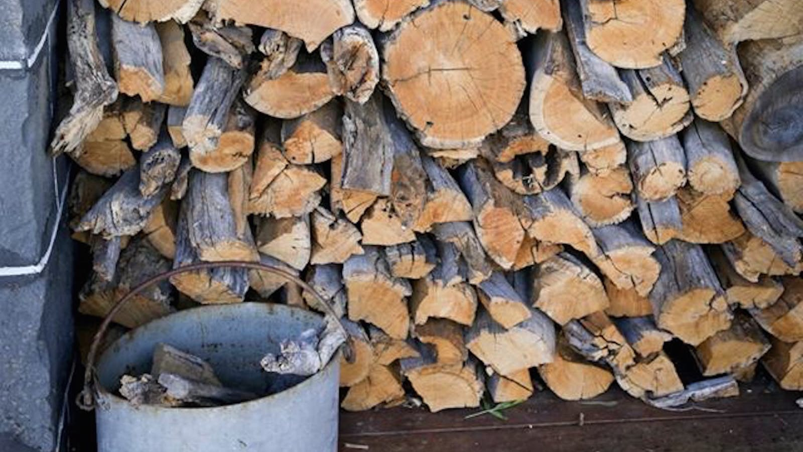 Wood chopped and stacked ready for your use in the cold nights.