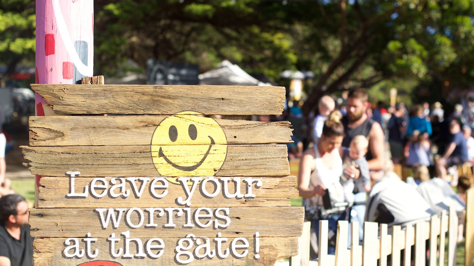 Leave your worries at the gate