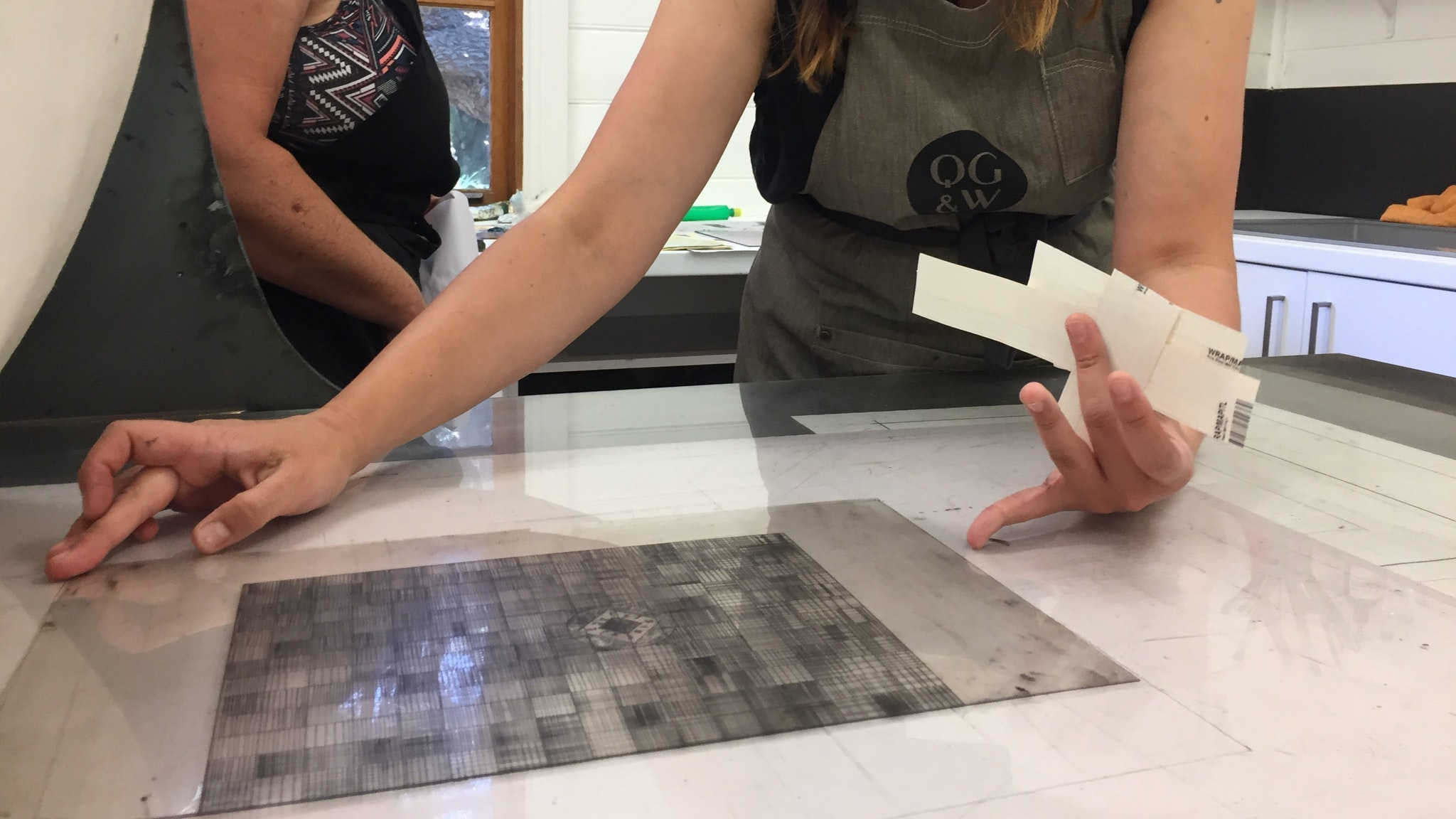 Printmaking with plastic plates