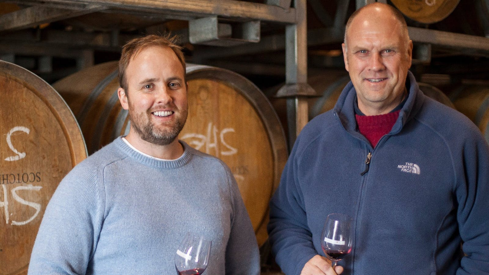 Winemakers Robin Brockett and Marcus Holt