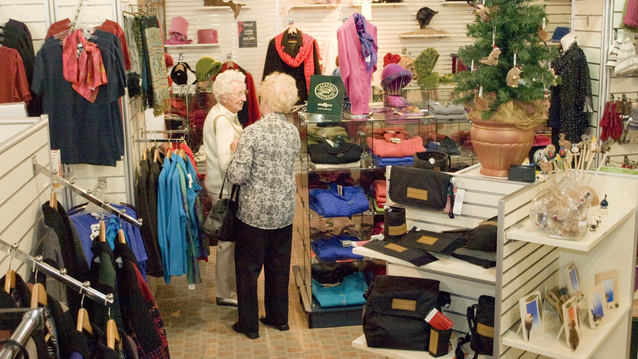 On-site shop stocking quality woollen goods, gifts and souvenirs