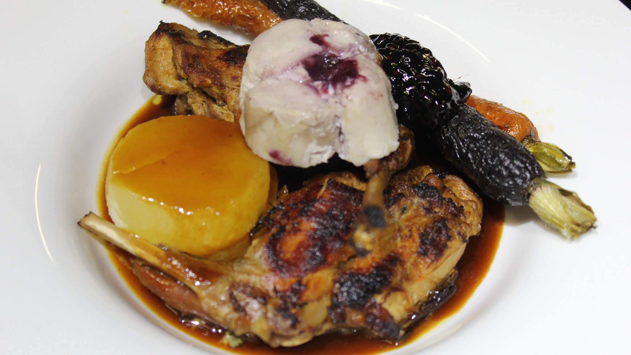 Braised Rabbit and Roasted Garden Vegetables