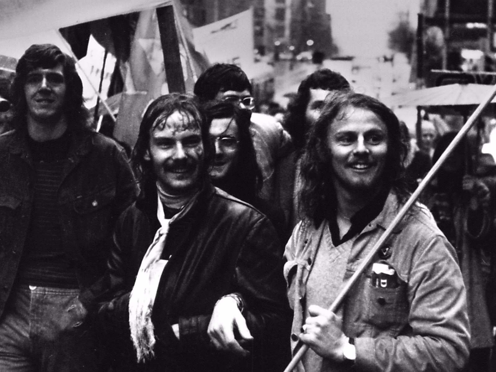 Gay Pride Week, Melbourne, 1973. Feat. in film 'Out of the Closet into the Streets' by Wind & Sky