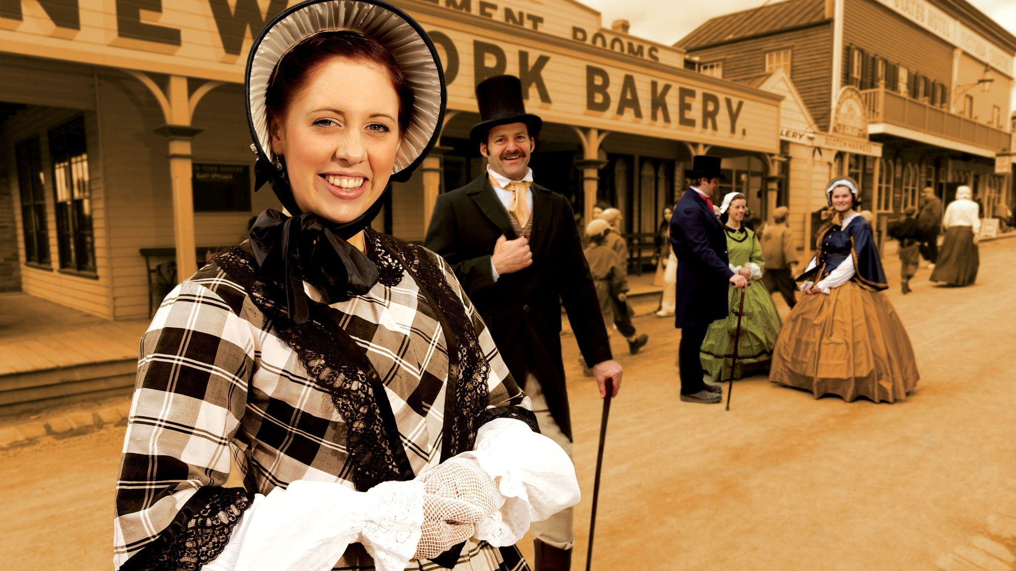 Costumed characters at Sovereign Hill
