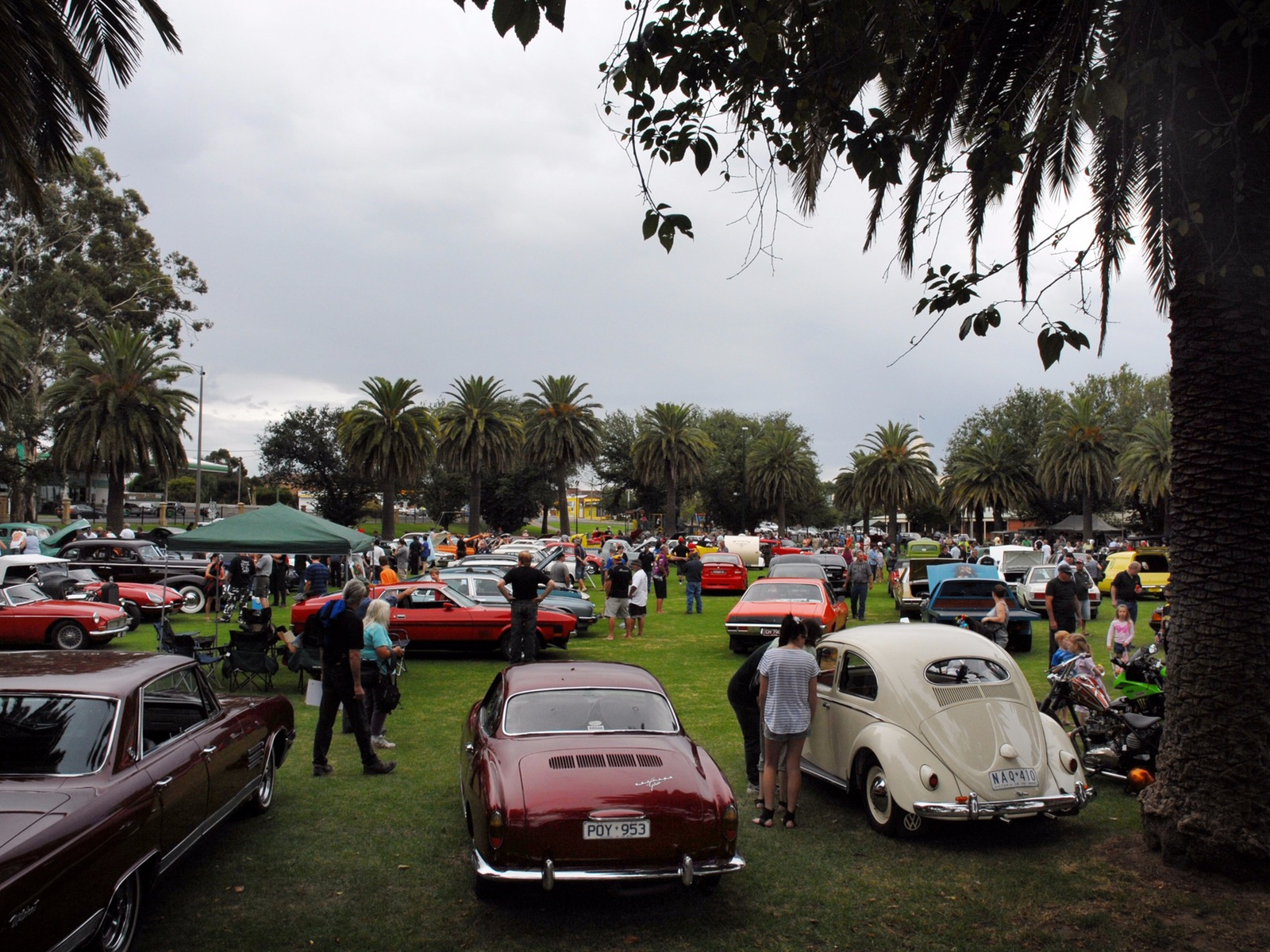 May Park Full Of Vintage Cars