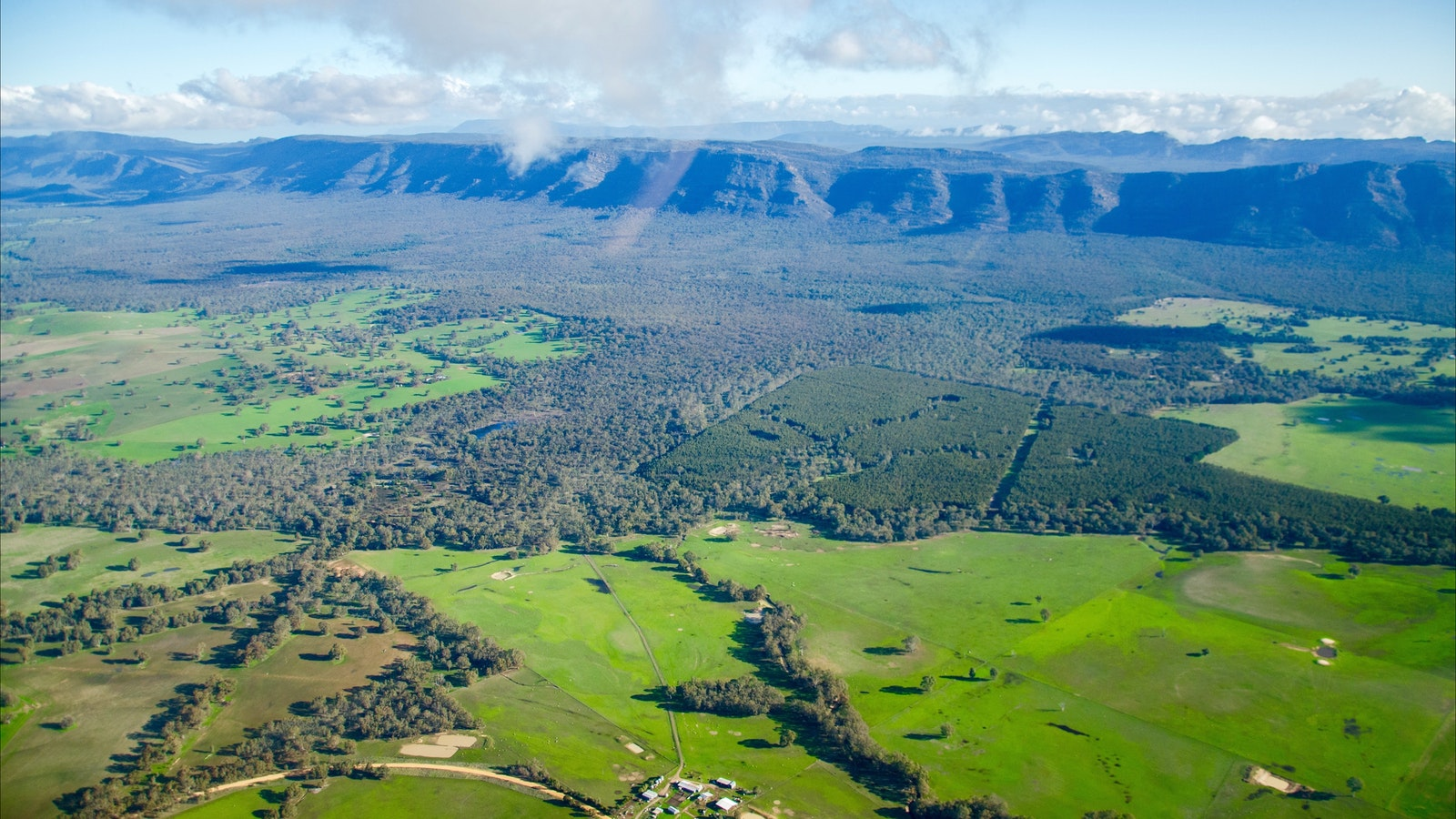 View from Grampians Helicopters tour