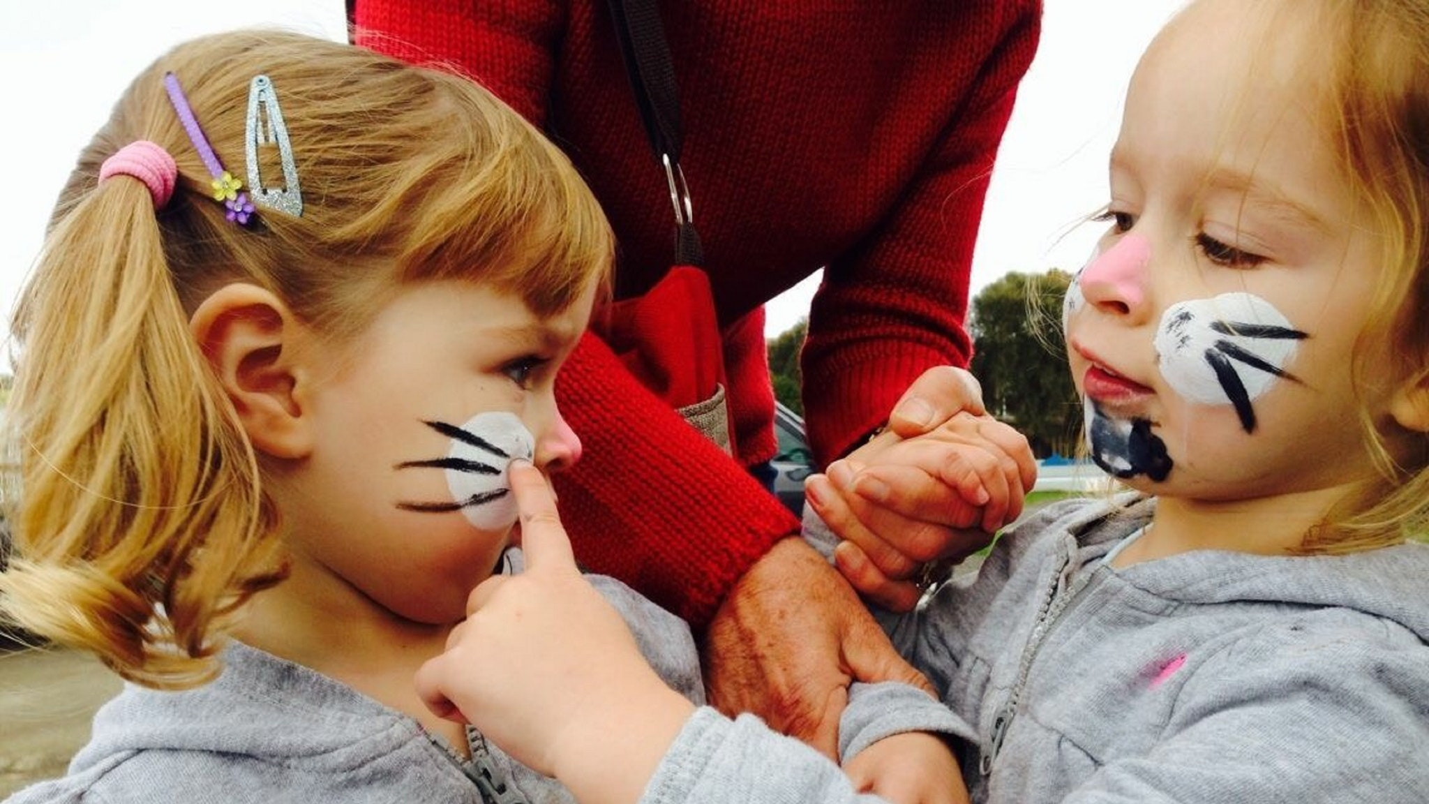 Facepainting fun for all Egg hunters