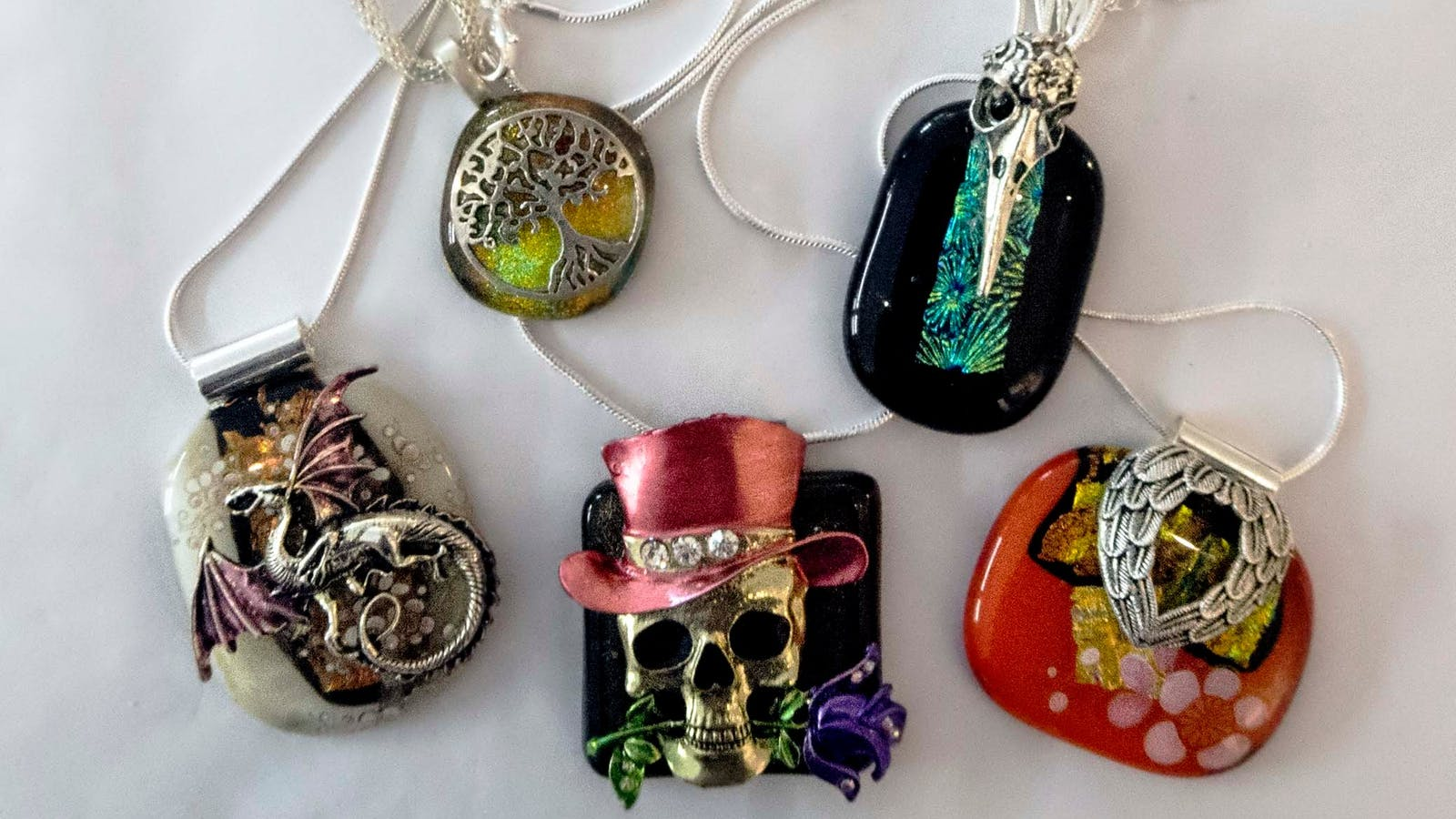 Necklaces by Ndibranch Art Glass