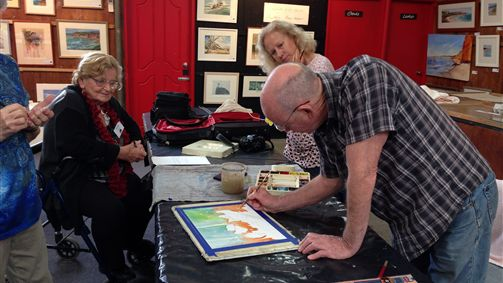 Watercolour workshop with Malcolm Beattie.