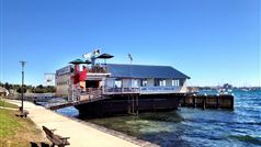 The Geelong Boat House located on a 100 year old barge in beautiful Corio Bay.