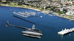 Helicopter flight over Corio Bay