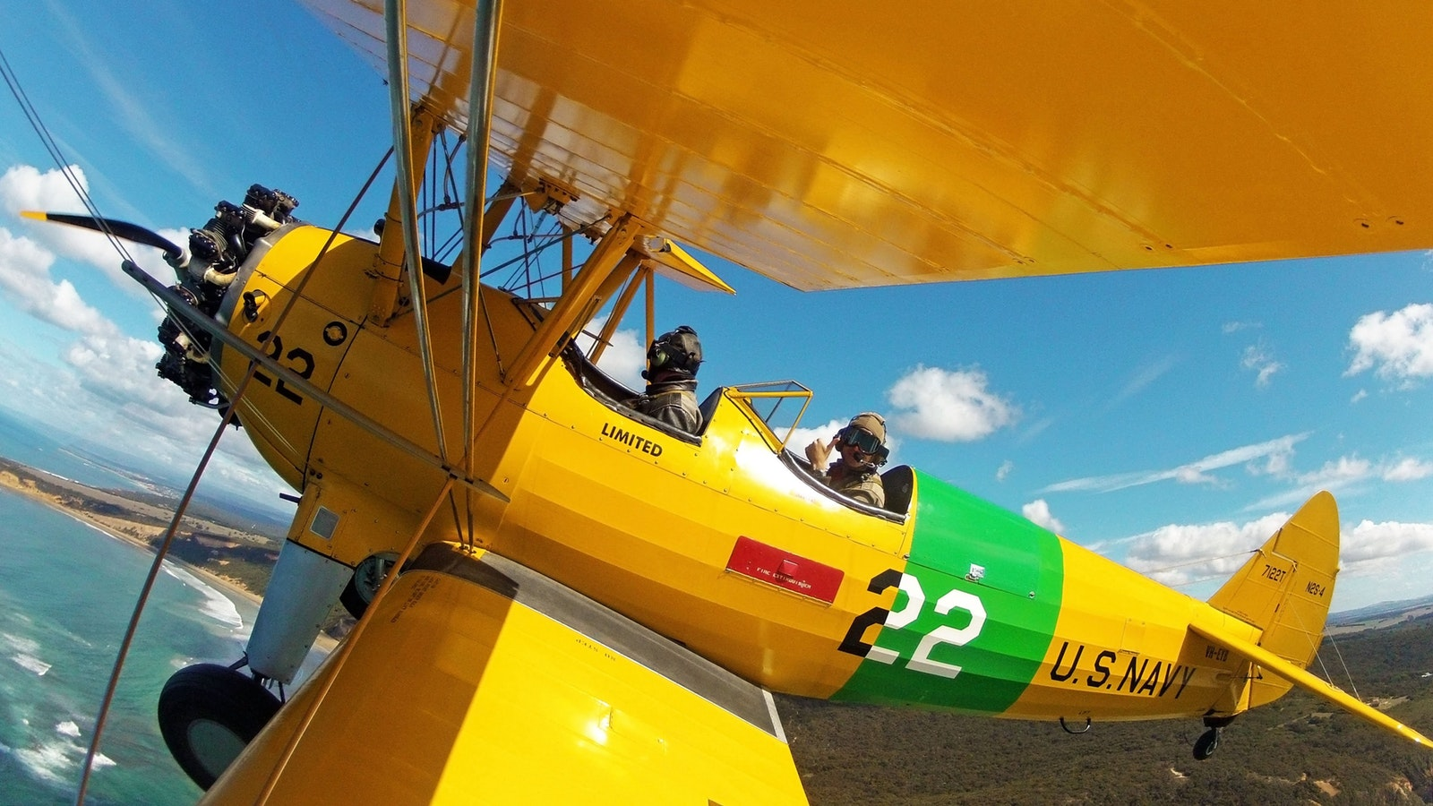 Flying in a WW2 biplane with Tiger Moth World