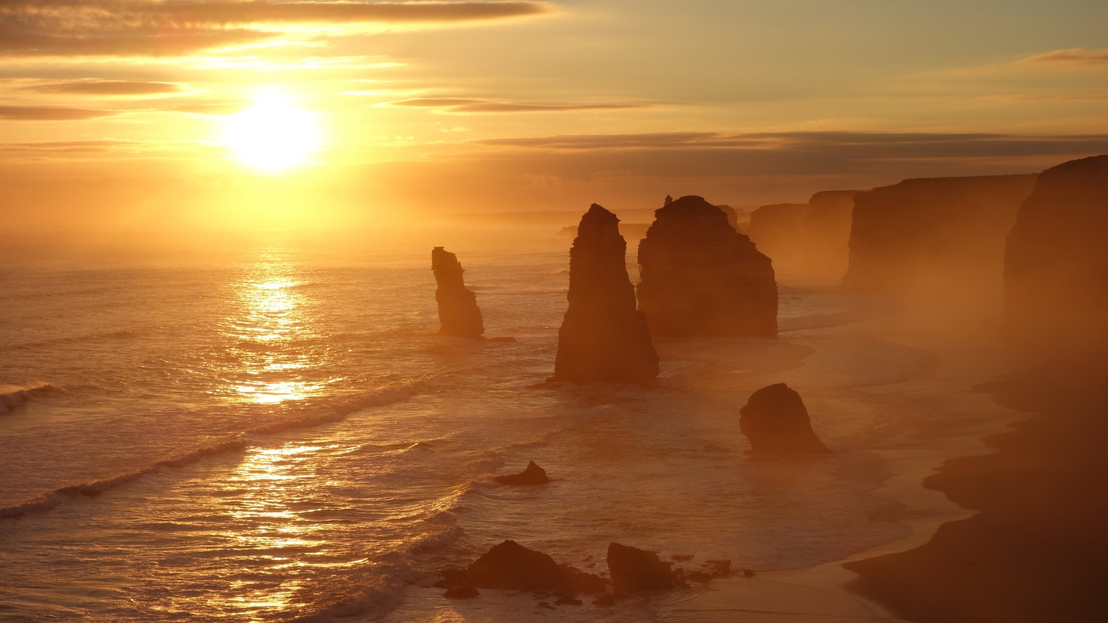 The 12 Apostles at sunset....simply stunning