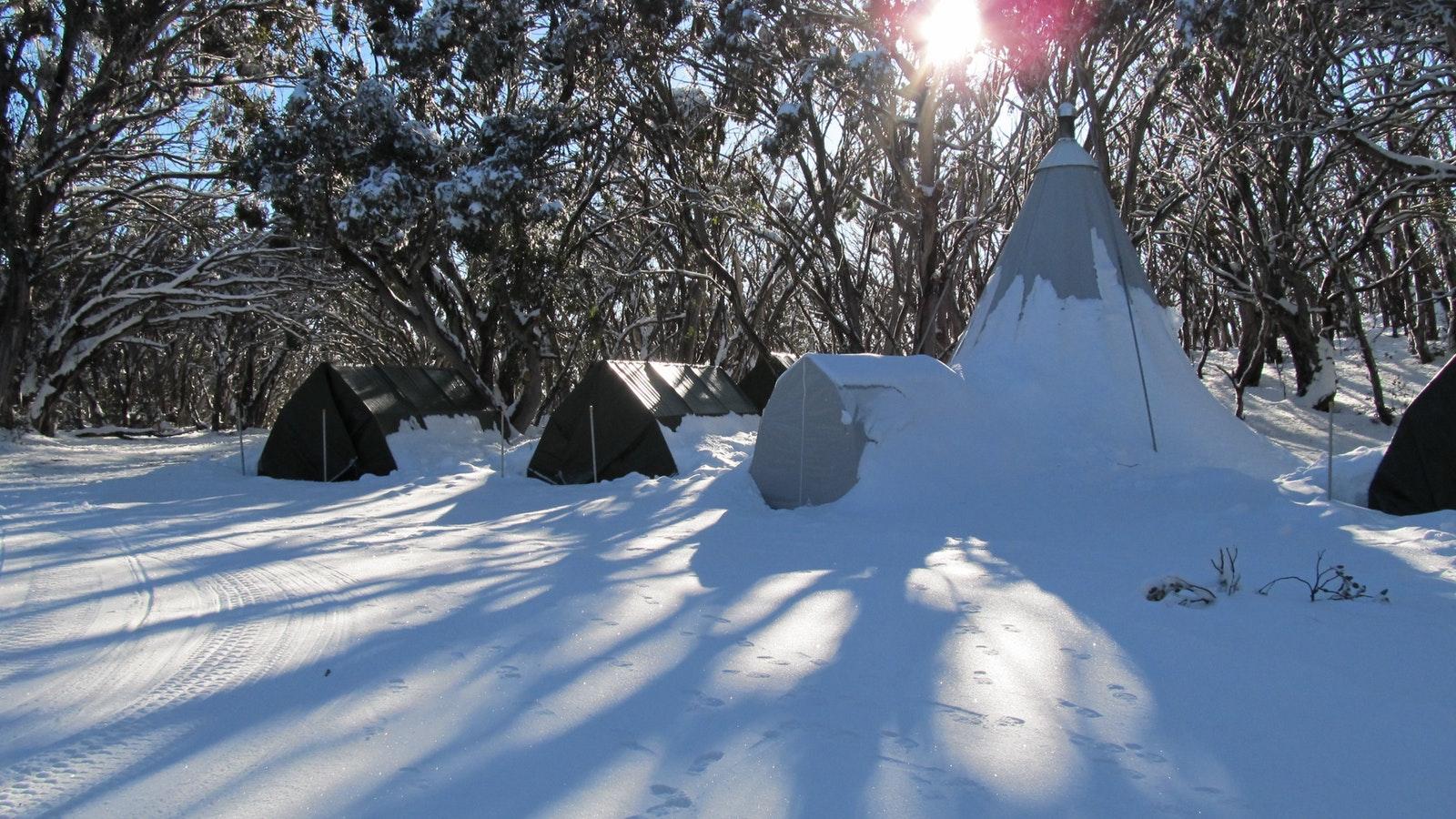 Mt Stirling Alpine Winter Camp, Accommodation, High ...