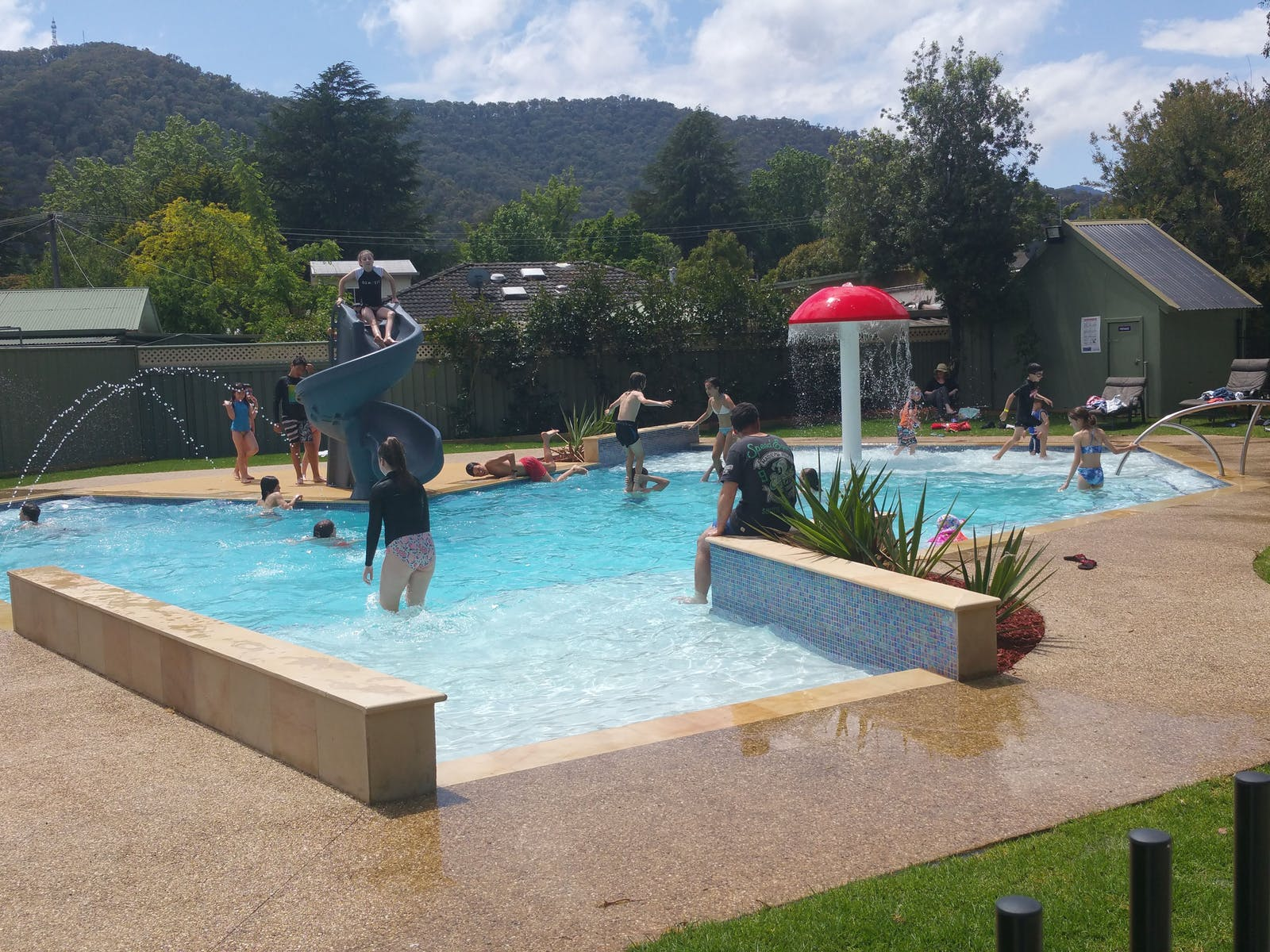 The park's new solar heated pool