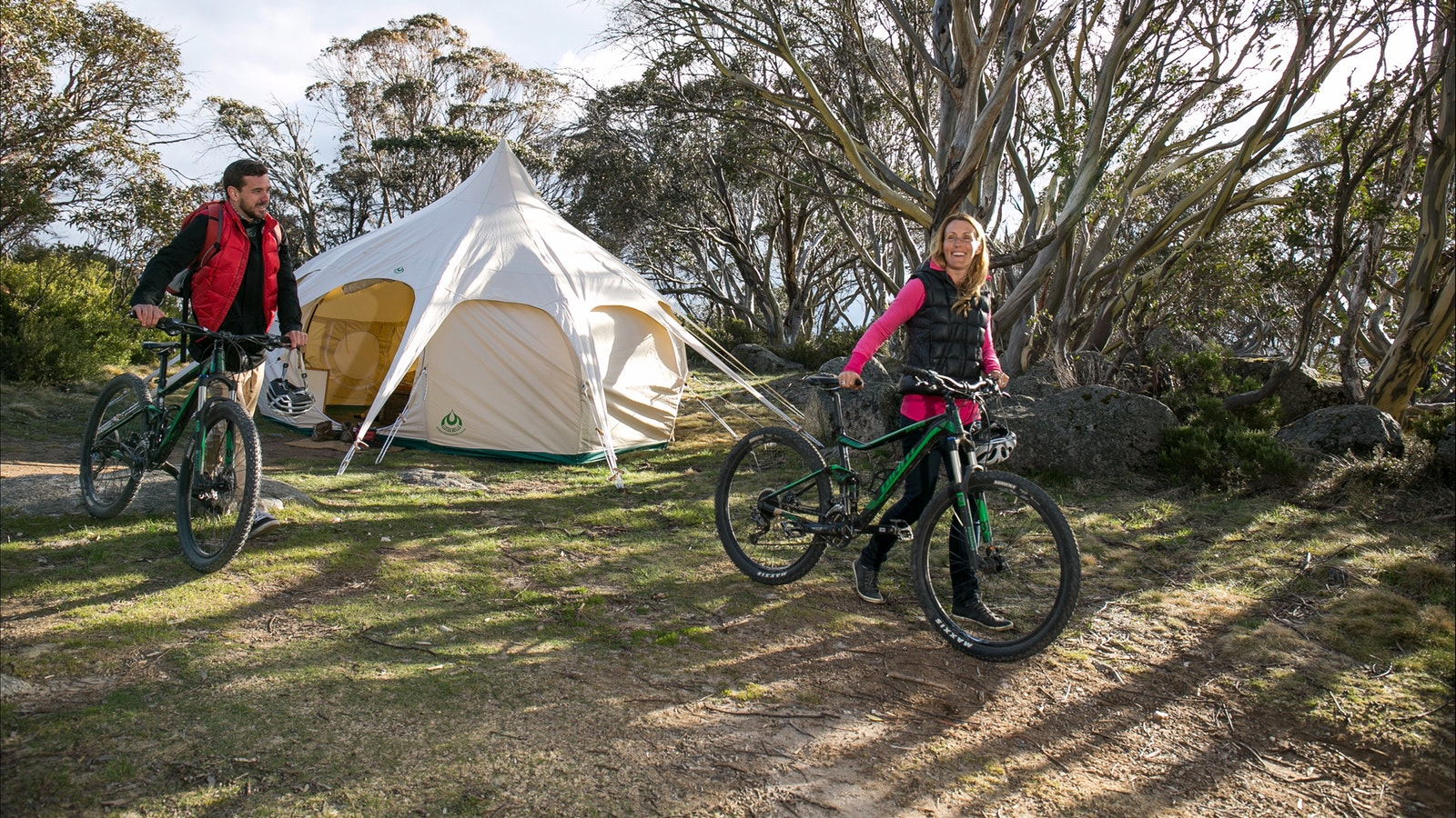Glamping and cycling