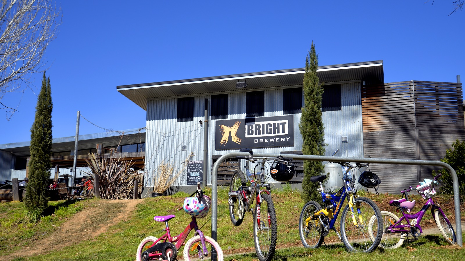 Bring the family and your bikes to Bright Brewery