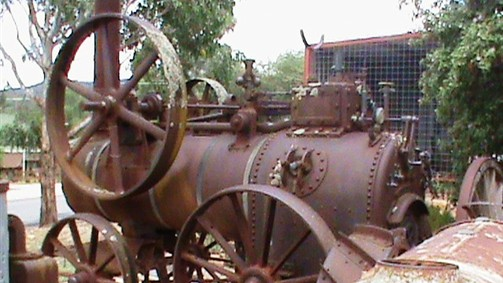 Engine driven by steam