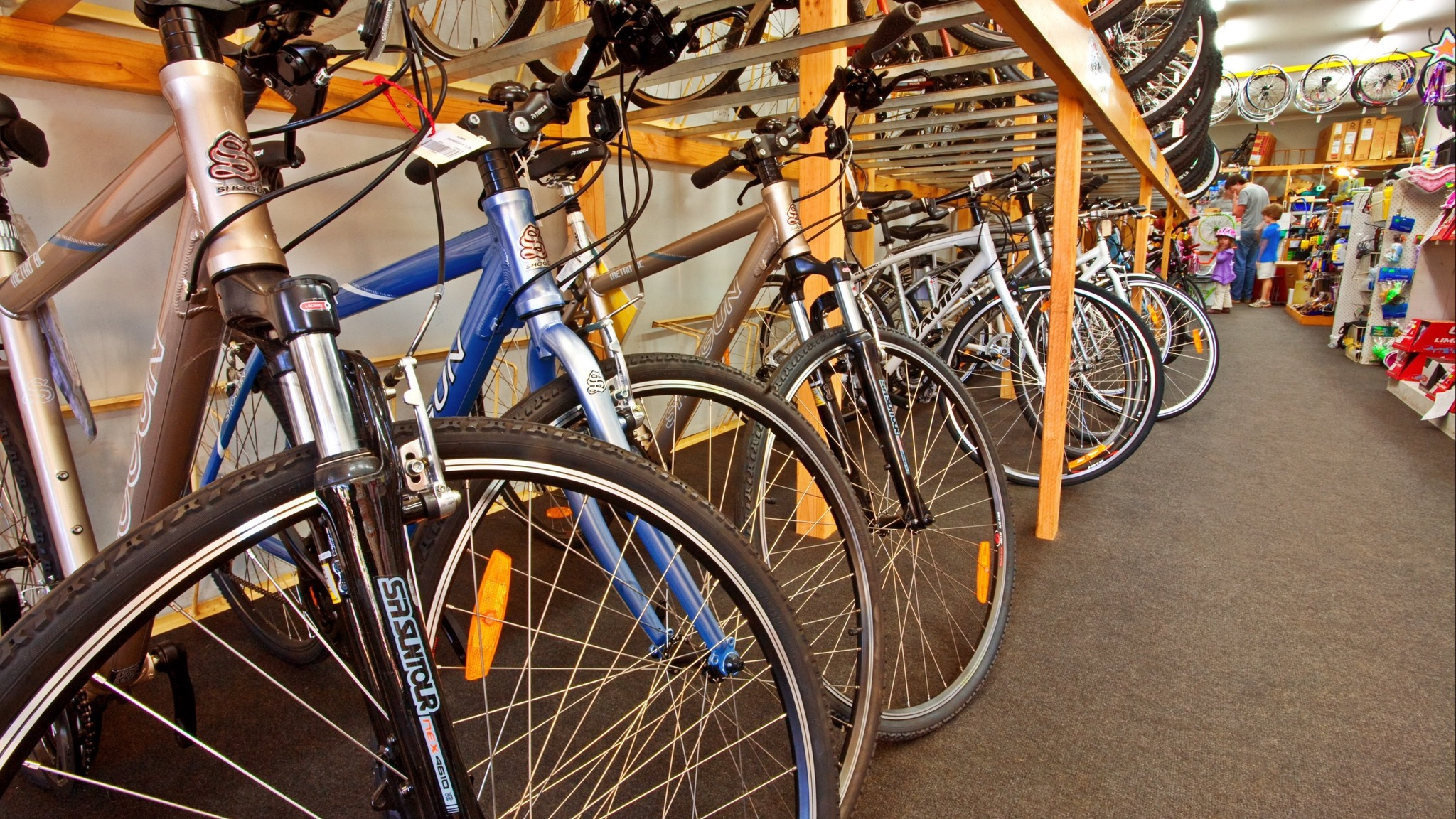 Hire bicycles for adults and children