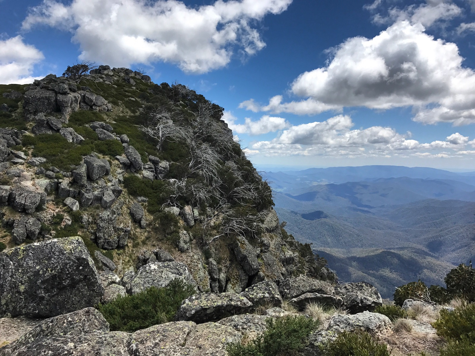 The rocky summit of Mt Cobbler yields amazing panoramic views of the High Country