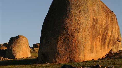 Spectacular granite rocks dot the countryside around Strathbogie and Ruffy