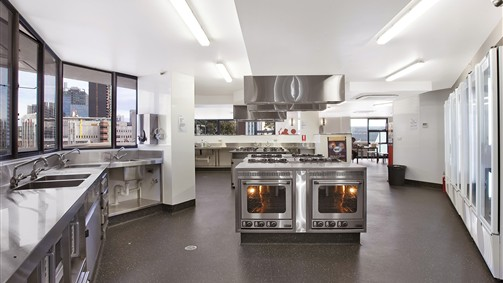 State-of-the-art communal kitchen