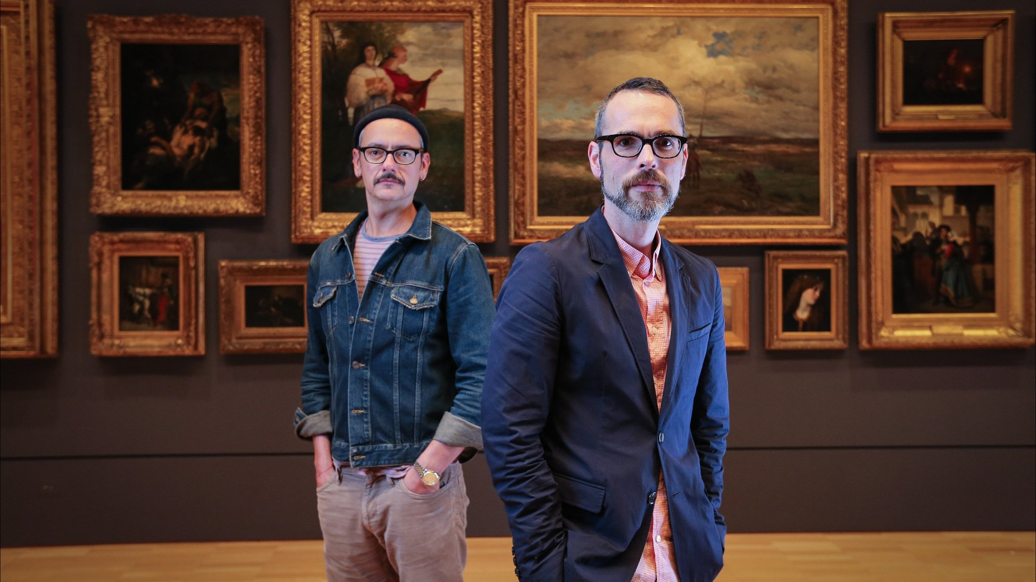 Rolf Snoeren and Viktor Horsting at the National Gallery of Victoria, Melbourne