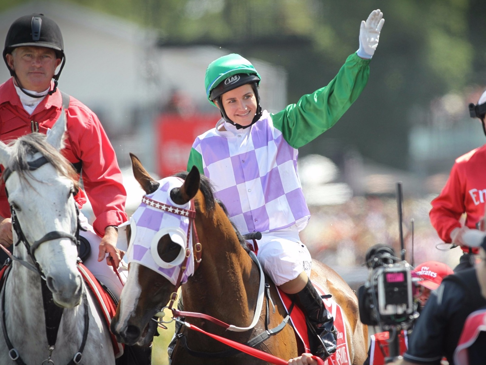 2015 Emirates Melbourne Cup Winner Prince of Penzance and Michelle Payne