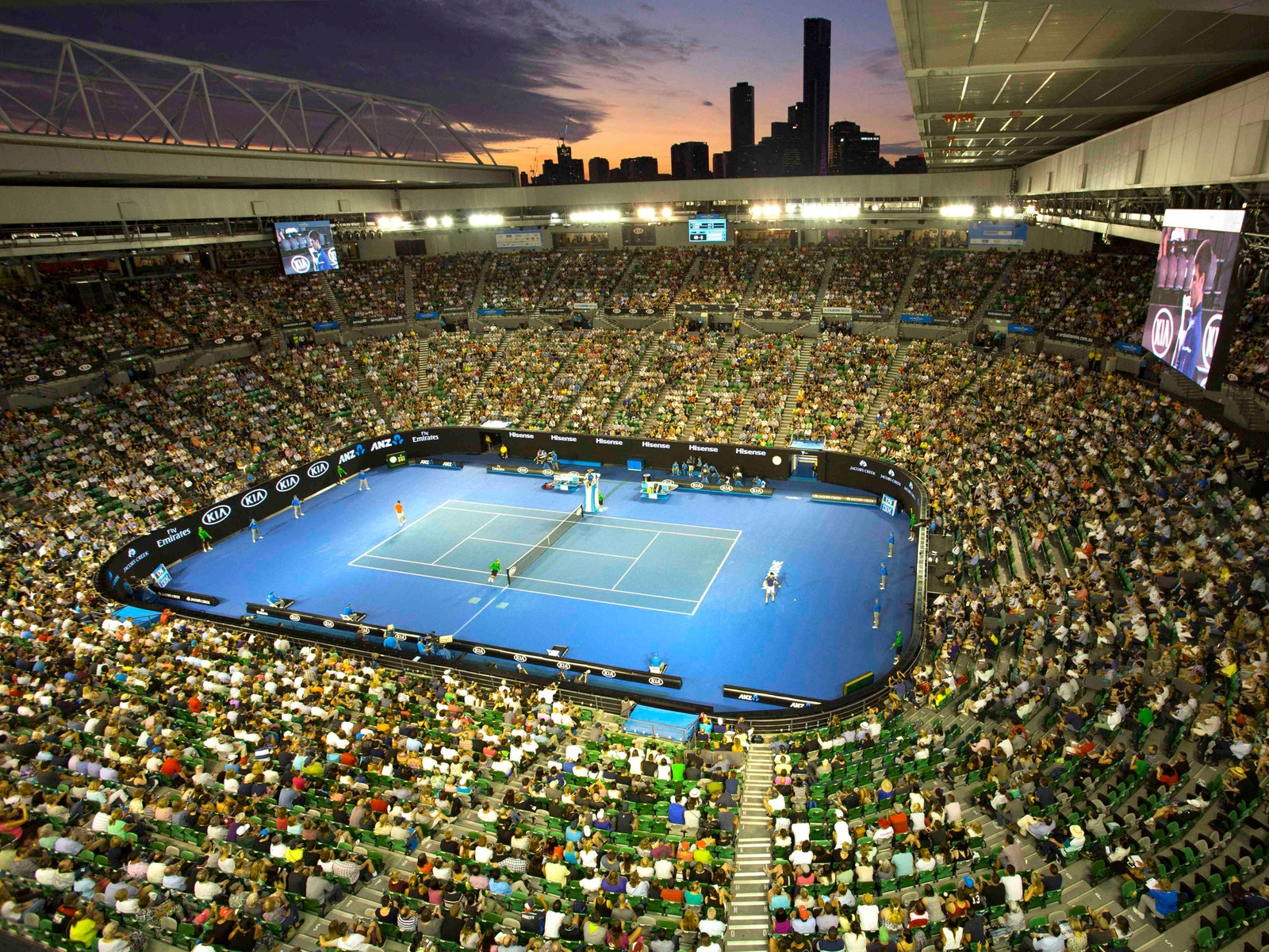 The world's best tennis players battle it out for the ultimate glory at Rod Laver Arena