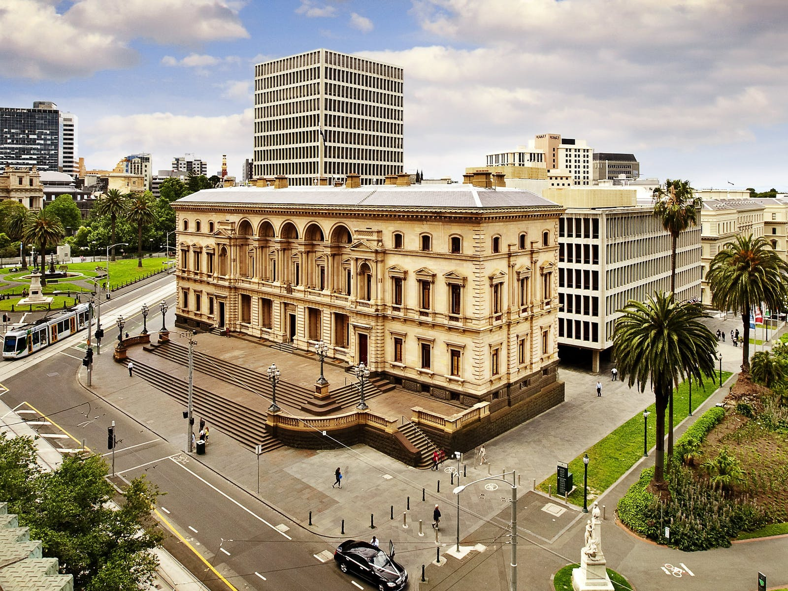 The Old Treasury Building during the day.