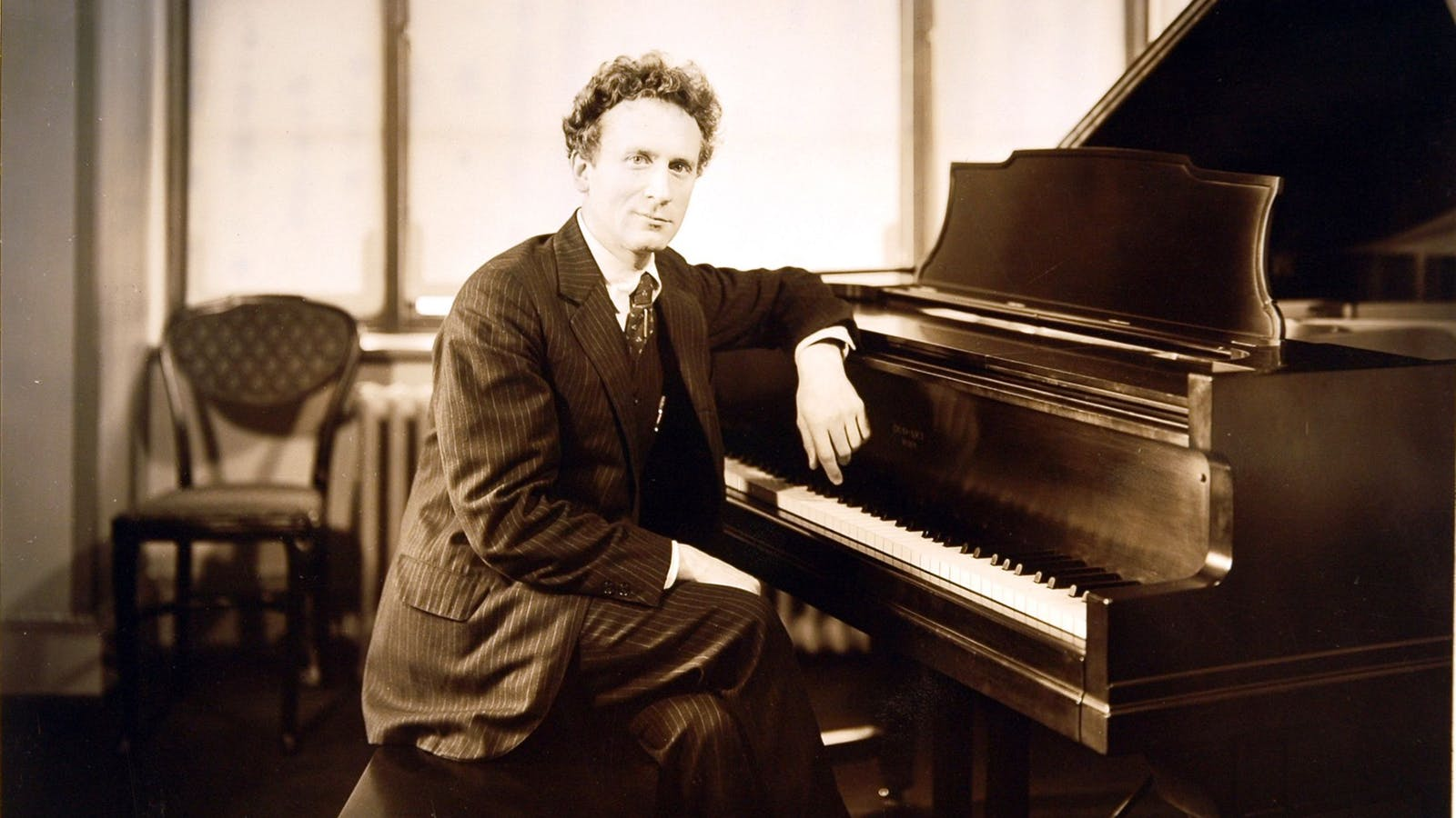 Percy Grainger at the piano, 1927