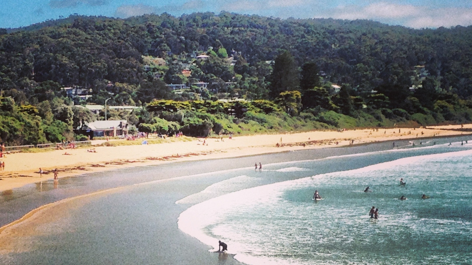 Lorne township and beach. One of the Great Ocean Road's crown jewels.