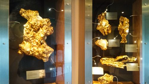 Gold Nuggets at the Gold Museum