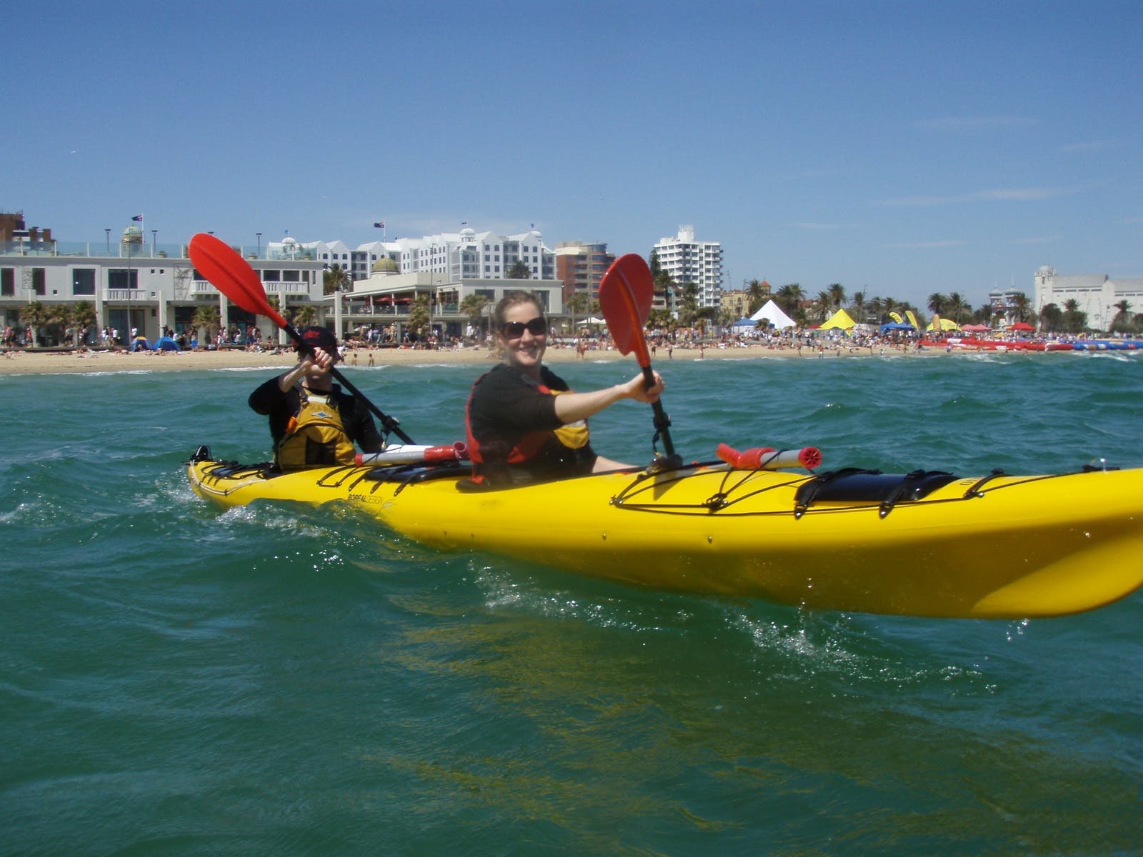 Sea Kayak Half Day St Kilda - Skilda baths in the back ground