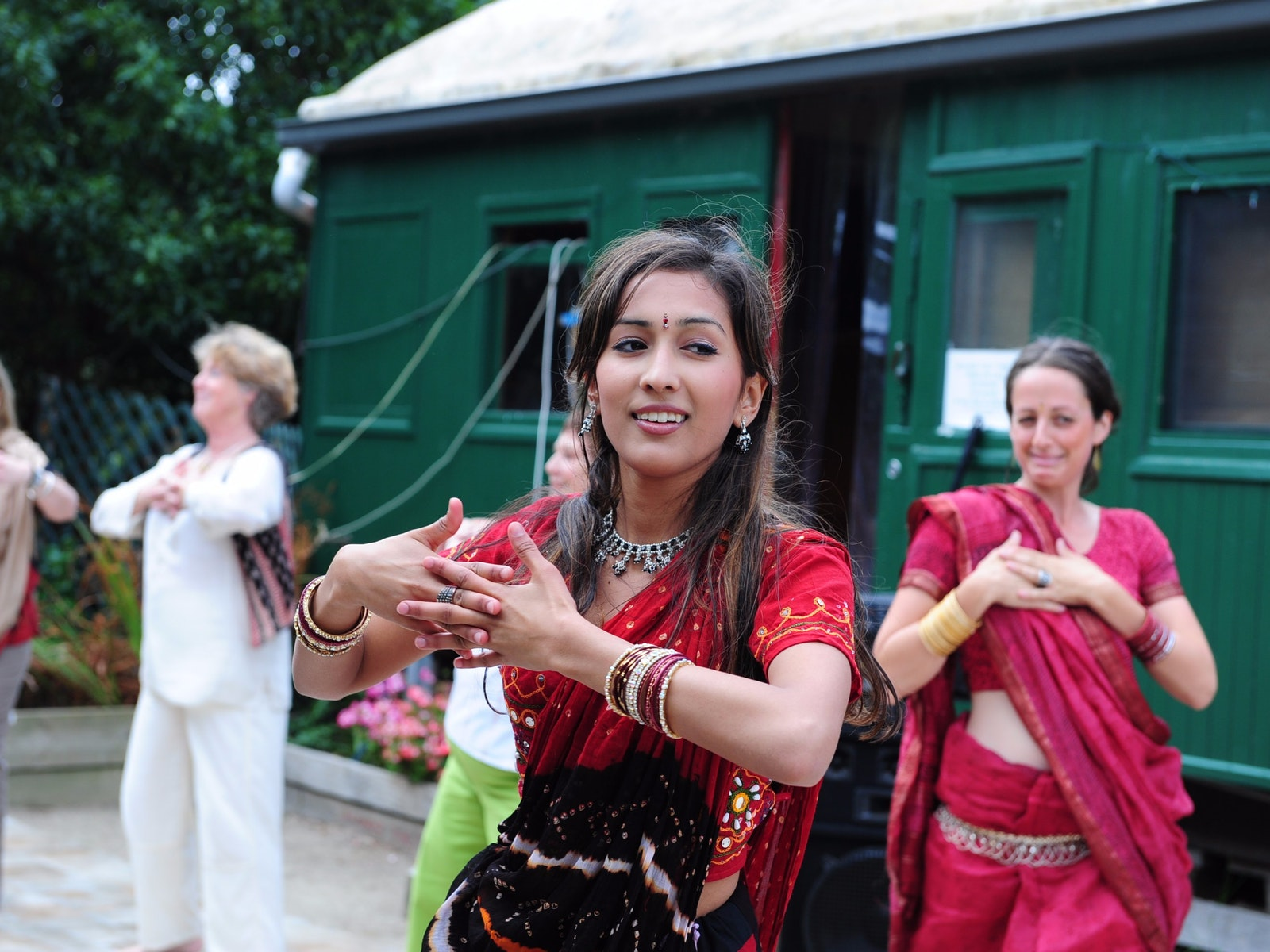 Bollywood dancing at Nazaaray Estate Winery