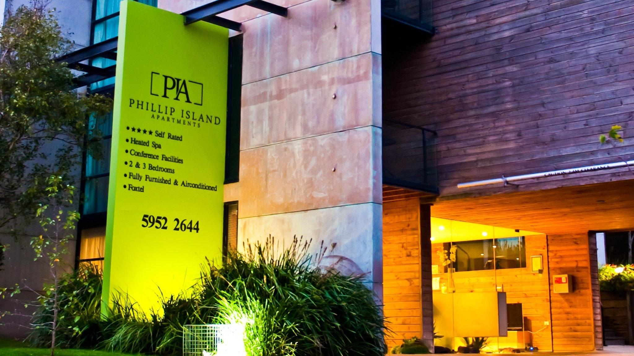 Entrance of Phillip Island Apartments