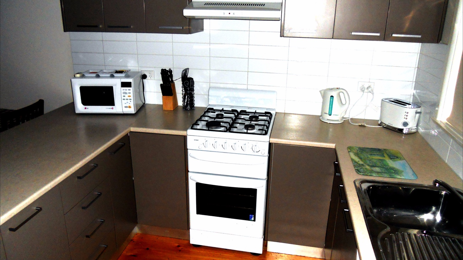 Kitchen in deluxe apartments - fully equipped
