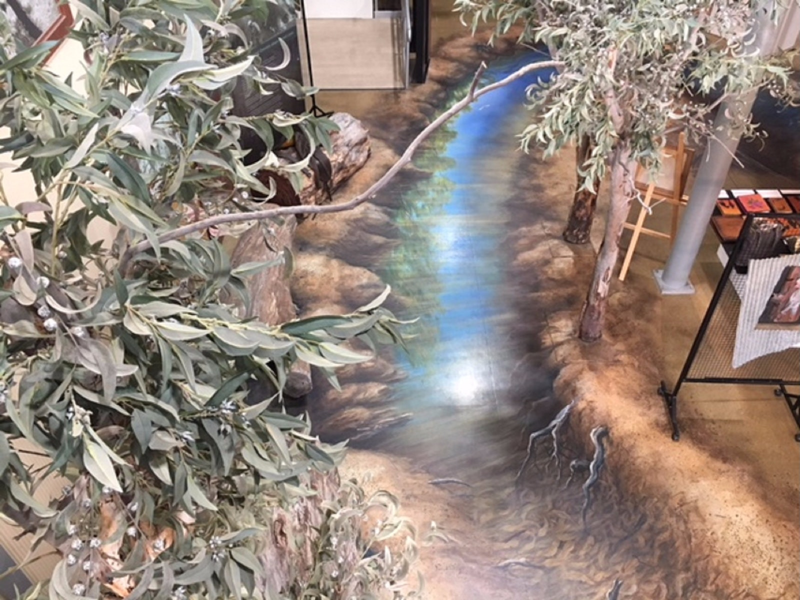 3D Floor at the Barmah Forest Heritage and Education Centre - Nathalia